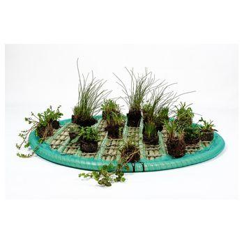 Pflanzinsel-Set 60cm rund inkl. 15 Pflanzen