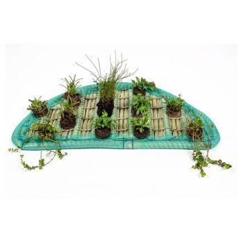 Pflanzinsel-Set 80cm halbrund inkl. 12 Pflanzen