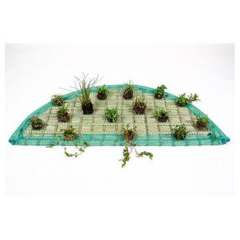 Pflanzinsel-Set 120cm halbrund inkl. 15 Pflanzen