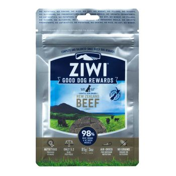 Ziwipeak - Hunde-Snack - Neuseeland-Rind Good Dog Rewards Pouches Beef 85g (getreidefrei)