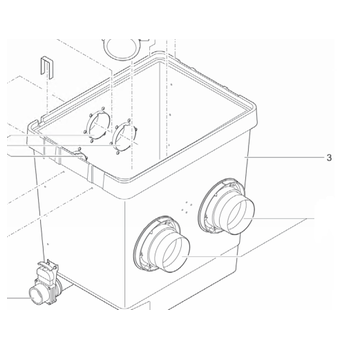 Behälter Trommelfilter Gravitation