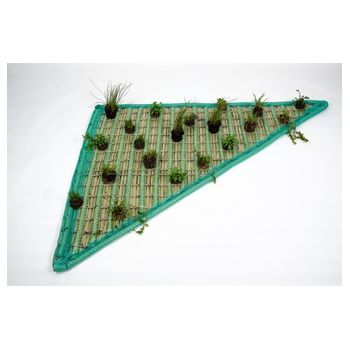 Pflanzinsel-Set Dreieck 120 x 120 x 160cm inkl. 20 Pflanzen