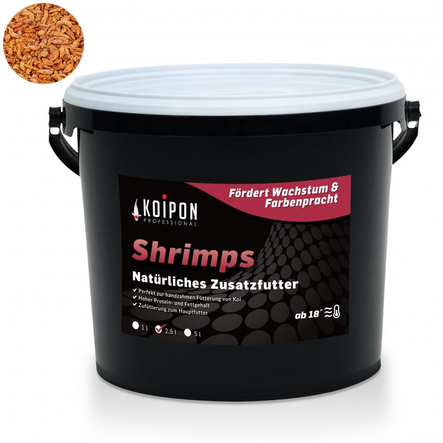 KOIPON Shrimps & Garnelen - 100% natürliches Koifutter