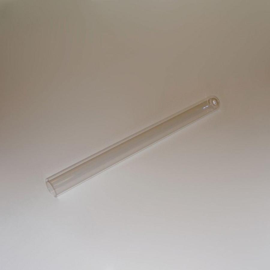 Quartz glass D44 x 518 with beaded rim
