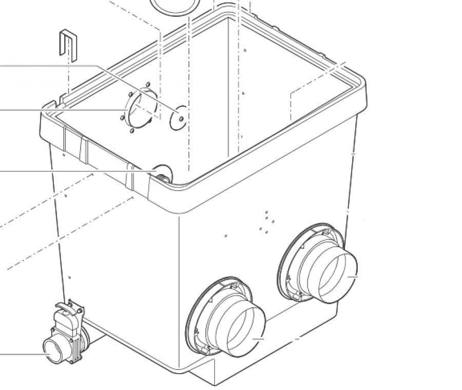 Behälter Trommelfilter gepumpt
