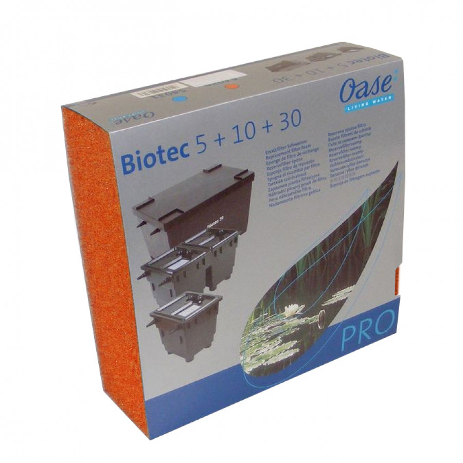Ersatzschwamm rot BioTec 5 / 10 / 30