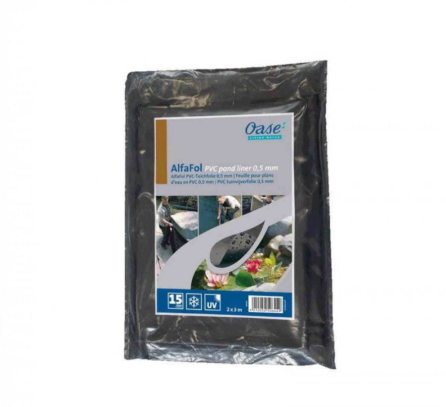 PVC Teichfolie 0,5mm / 4x5m - Oase AlfaFol schwarz