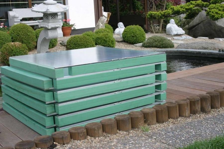 Schwimmende Teichabdeckung 1x1 m, 7 cm hoch, Stück 150 ¤