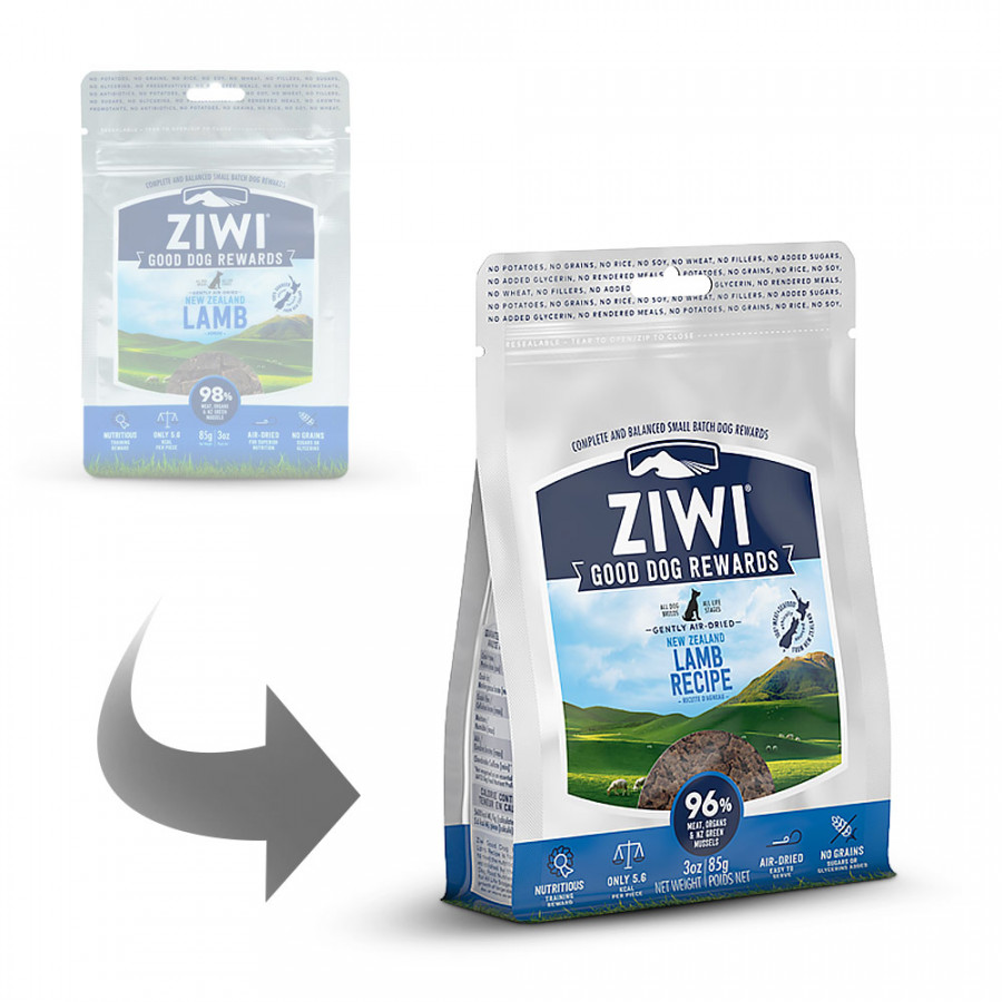 Ziwipeak - Hunde-Snack - Neuseeland-Lamm Good Dog Rewards Pouches Lamb 85g (getreidefrei)