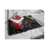 Koi Cafe automatic feeder - red without solar cells  Image 3