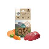 Wildes Land - Dog snack - meat cubes horse with sweet potatoes and carrots 100g